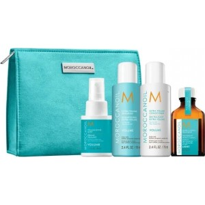 Moroccanoil Travel Kit Volume On The Go (Extra Volume Shampoo 70 ml , Extra Volume Conditioner 70 ml ,Volumizing Mist 50 ml, Oil Treatment Light 25 ml)