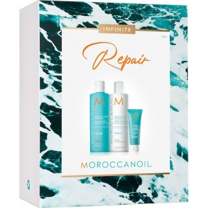 Moroccanoil Infinite Repair Spring Kit Moisture Repair Shampoo 250ml, Moisture Repair Conditioner 250ml & Mending Infusion 20ml
