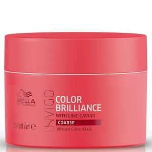 Wella Professionals Invigo Color Brilliance with Lime Caviar Coarse Hair Vibrant Color Mask 150ml Wella Professionals Invigo Color Brilliance with Lime Caviar Coarse Hair Vibrant Color Mask 150ml
