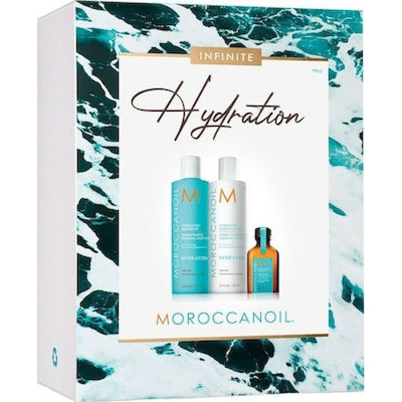 Moroccanoil Infinite Hydration Spring Kit 2021 Hydrating Shampoo 250ml, Hydrating Conditioner 250ml & Oil Treatment 25ml