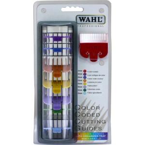 Wahl Attachment Comb Guard Set 8 Colour 3170-800