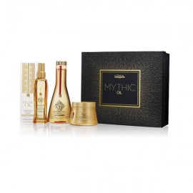 Xmas Offer!!L'Oreal Professionnel Mythic Oil Pack For Thick (Shampoo 250ml+Masque 250ml+Oil 100ml)