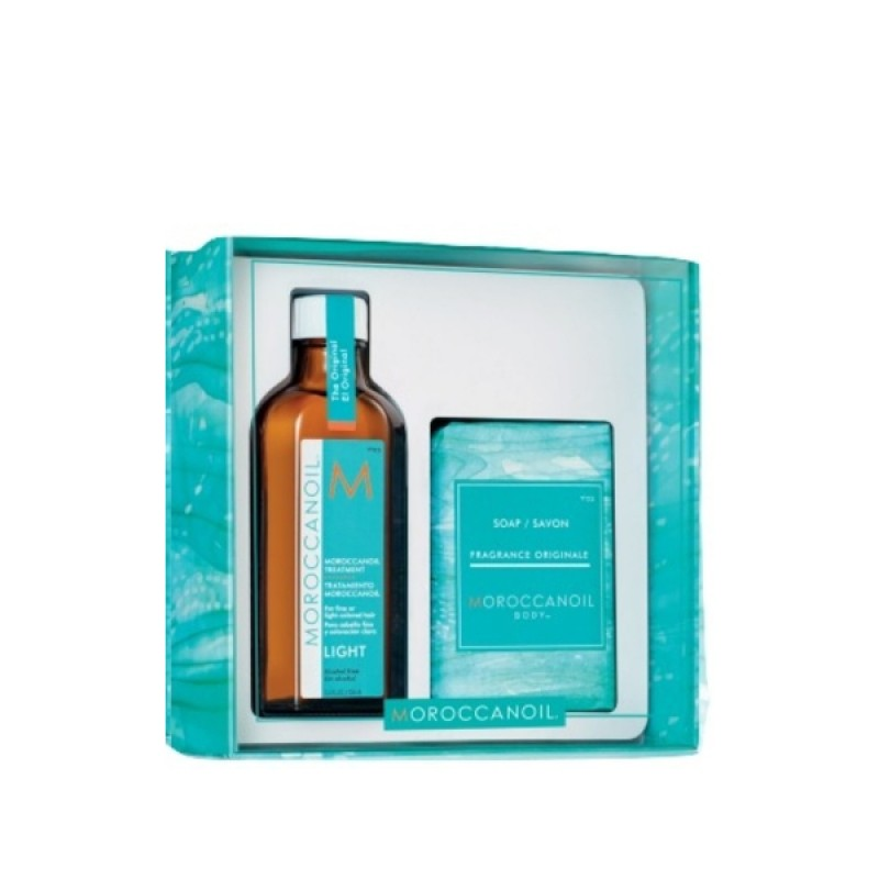Moroccanoil Home & Away For Fine Hair (Oil Light Treatment 100ml,Soap 200gr)