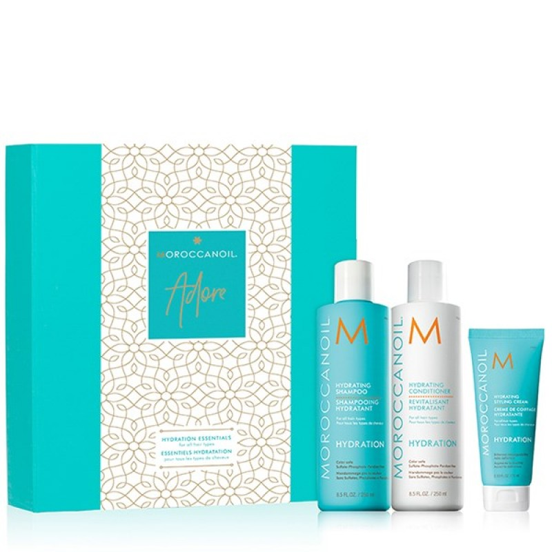 MOROCCANOIL HYDRATING ADORE SET (HYDRATING SHAMPOO 250ML+ HYDRATING CONDITIONER250ML + ΔΩΡΟ HYDRATING STYLING CREAM 75ML)