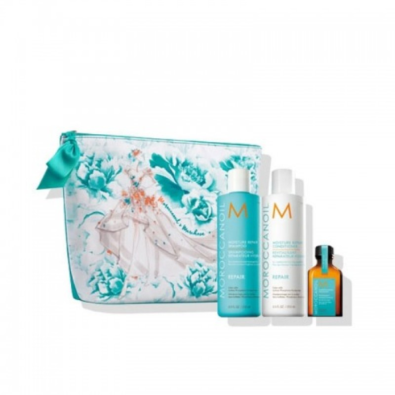 Moroccanoil Spring Marchesa Repair Set (shampoo 250ml, conditioner 250ml, oil treatment 25ml)