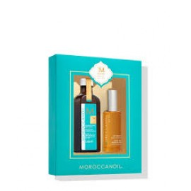 MOROCCANOIL 10 YEAR ANNIVERSARY SET (MOROCCANOIL LIGHT TREATMENT 100ML & DRY BODY OIL 50ML)